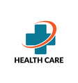 health care business logo vector image vector image