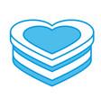 heart shape box vector image vector image