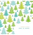 Holiday Christmas trees corner decor pattern vector image vector image