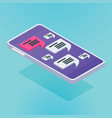 isometric mobile chat vector image vector image