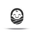 logo design bacheerful joyful kid logo design vector image vector image