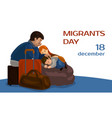 migrants day concept banner cartoon style vector image vector image