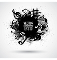 Music black blot vector image vector image