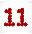 poppies number eleven vector image vector image