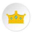 prince crown icon circle vector image vector image
