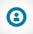 profile bold blue border circle icon vector image vector image