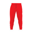 red tracksuit bottom vector image vector image
