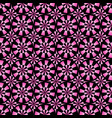 seamless geometrical pink and black pattern vector image