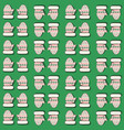 seamless pattern with mittens green vector image vector image