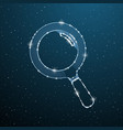 searching magnifying polygonal instrument find vector image