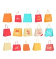 Set of Paper Bags with Text Sale Percentage Price vector image vector image