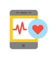 smartphone with vital signs check function vector image