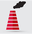 smoke emission from factory pipes icon vector image