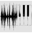 Sound wave and Piano keyboard