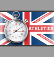 sporting poster of athletics vector image