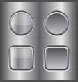 square and round buttons metal brushed texture vector image vector image