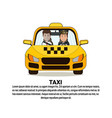 taxi service icon driver and male passenger in vector image