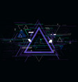tech futuristic abstract triangle geometric vector image