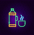 thermos neon sign vector image vector image