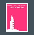 tower of hercules a corua spain monument landmark vector image vector image