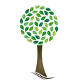 Tree with circled leaves vector image vector image