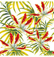 tropical seamless pattern white background vector image vector image