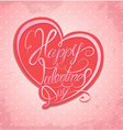 valentine calligraphy heart 2 380 vector image vector image