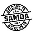 welcome to samoa black stamp vector image vector image