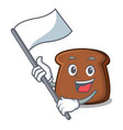 with flag brown bread mascot cartoon vector image