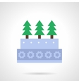 Xmas cake flat color icon vector image vector image