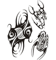 Zodiac Signs - fish and scorpion set vector image vector image