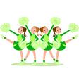 cheerleaders in green vector image