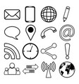 contact communication icon set vector image