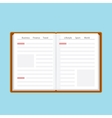 Book or journal in flat style vector image