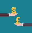 currency exchange dollar and pound sterling vector image