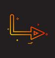 arrow right sign traffic icon design vector image vector image