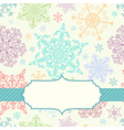 Background with multicolored snowflakes vector image