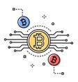 bitcoin - colorful line design style conceptual vector image vector image
