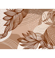 brown background with patterns of flowers vector image