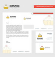 cake business letterhead envelope and visiting vector image vector image