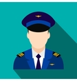 Captain of the aircraft flat icon vector image vector image