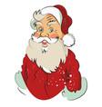 cartoon image of amazed santa claus vector image