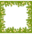 christmas pine frame 2209 01 vector image vector image