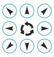 Circled Directions Flat Icon Set vector image