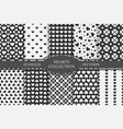 collection hearts seamless patterns happy vector image