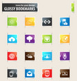 communication bookmark icons vector image vector image