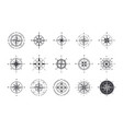 compass icons wind rose with north orientation vector image