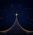 creative sparkles christmas tree card design vector image vector image