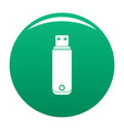digital flash drive icon green vector image vector image