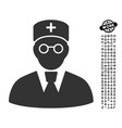 doctor icon with work bonus vector image vector image